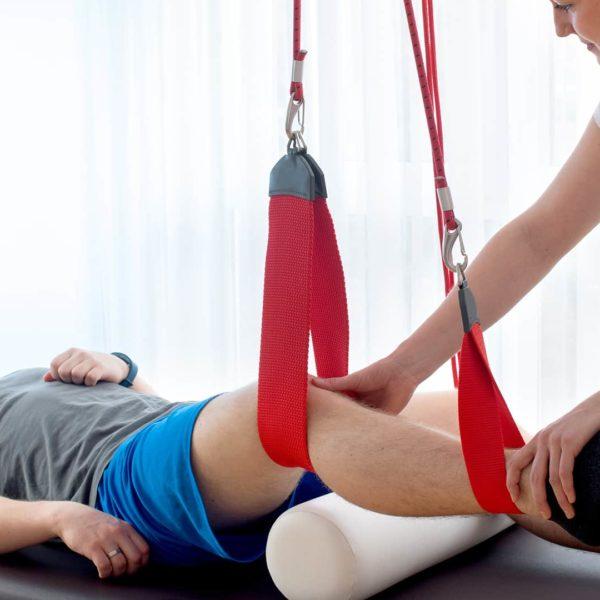 Behandlung Schlingentisch in Physiotherapie Praxis Denzlingen Schultheiß